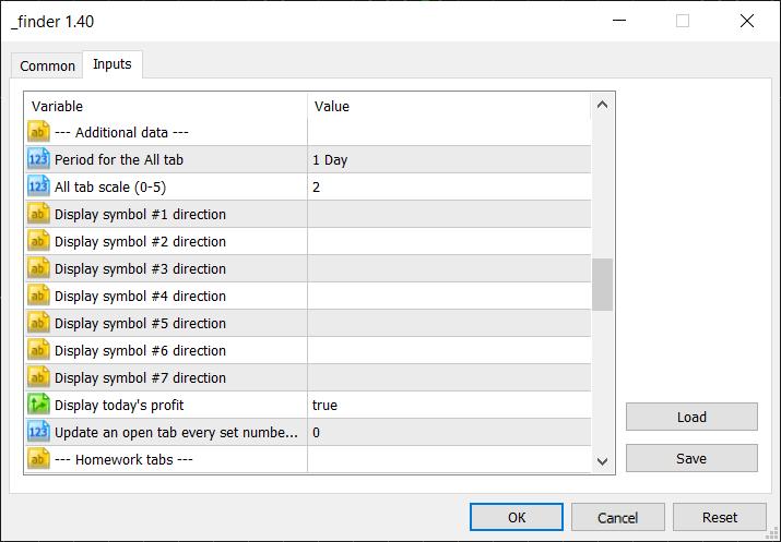 Additional data group settings