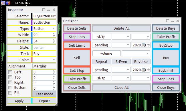 Макет торговой панели Color-Cube-Trade-Panel