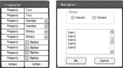 Bosquejo de la interfaz del programa de diseño de la GUI MQL