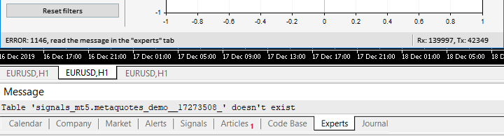 Exibindo o erro na barra de status