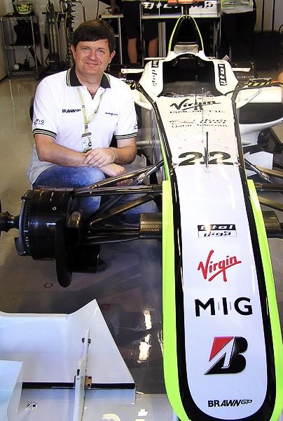 Olexandr Topchylo won a Formula One race from MIG Bank