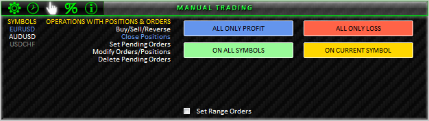 Fig. 40. MANUAL TRADING; CLOSE POSITIONS section