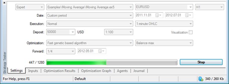 Оптимизация торговой системы в тестере терминала MetaTrader 5