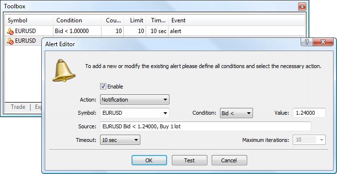 Envío de notificaciones Push a través de Señales en MetaTrader 5