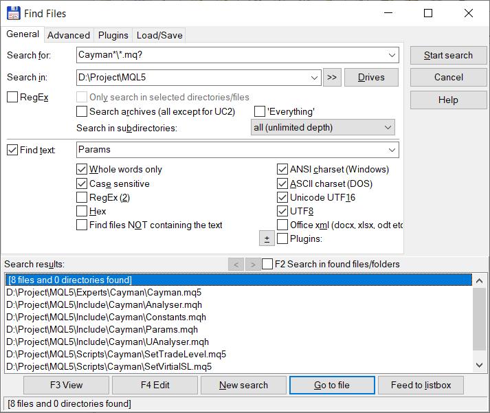 Búsqueda contextual de archivos