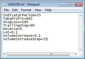 Fig. 4. List of input parameters in the symbol's file.