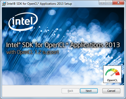 Fig. 1.4. Starting the installation of Intel SDK for OpenCL.