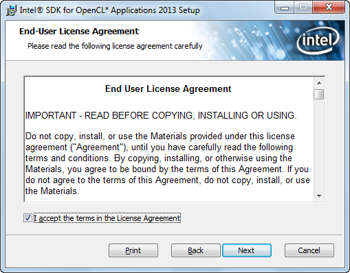 Fig. 1.5. Acceptance of the End User License Agreement.