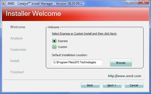 Dib. 2.1.5. Programa de configuración AMD Catalyst.