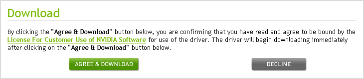 Dib. 3.5. Aceptación de los términos de licencia y descarga del driver.
