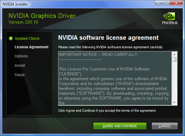 Fig. 3.6. Acceptance of the License Agreement at the first installation stage.