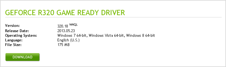 Fig. 3.2. Selected driver download.