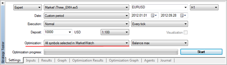 Optimization over all symbols selected in Market Watch