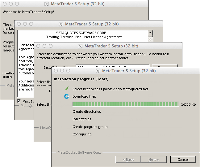 Installing MetaTrader 5