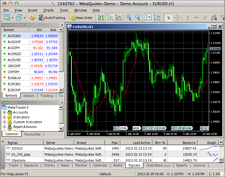 MetaTrader 5 on Mac OS