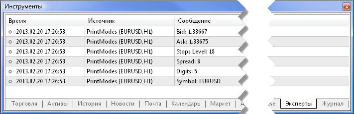 """Рис. 4. Окно """"Инструменты"""" - вкладка """"Эксперты"""""""