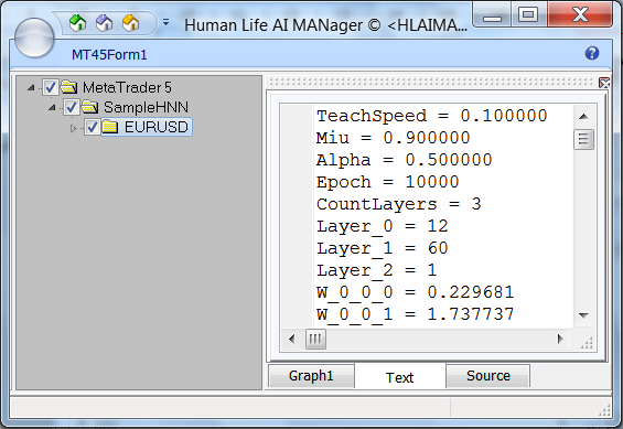 Fig. 9. The 'Text' tab of the Hlaiman application