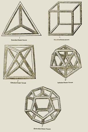 Figure 1. Regular polyhedra are perfect objects. They depict well the approach of building apps on solid concepts.