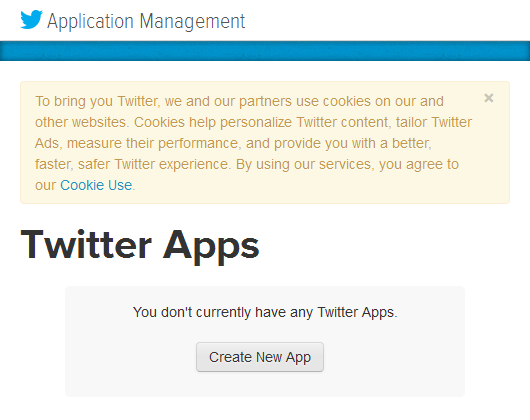 Figure 6. Create a New App in Twitter Developers