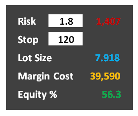 Margin and Lot Size Panel