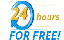 24 hours for free!
