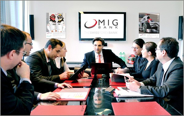 Ilgar Rustamov and marketing team of MIG BANK