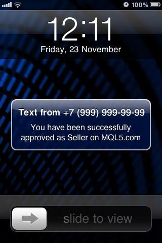 点击按钮后,您将收到短信通知代码
