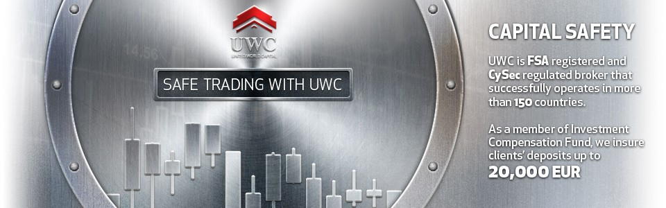 Так как компания United World Capital является членом Компенсационного Фонда инвестиций, депозиты клиентов застрахованы на сумму до 20 000 EUR