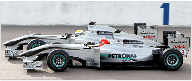 MIG BANK is the Team Partner of Mercedes GP Petronas Formula One Team