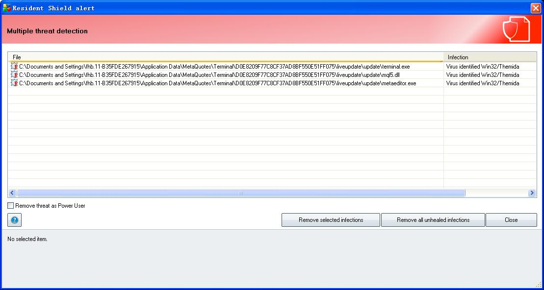 MT5 update file reported as virus by AVG - MT5 - General