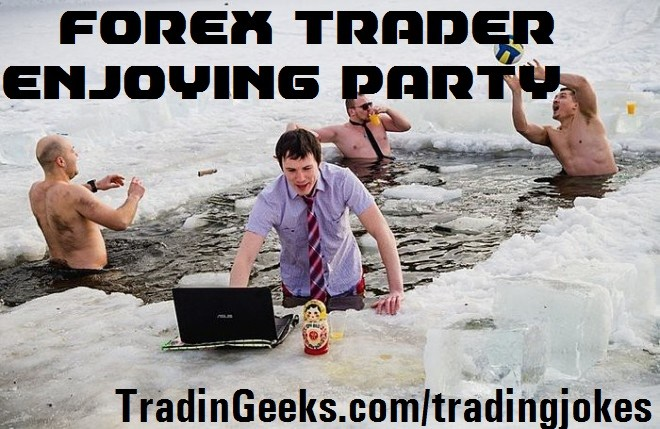 Traders Joking