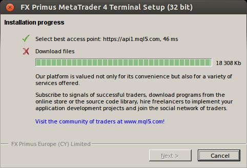 Metatrader 4 0 build 840 won't work with Wine - MetaTrader 5