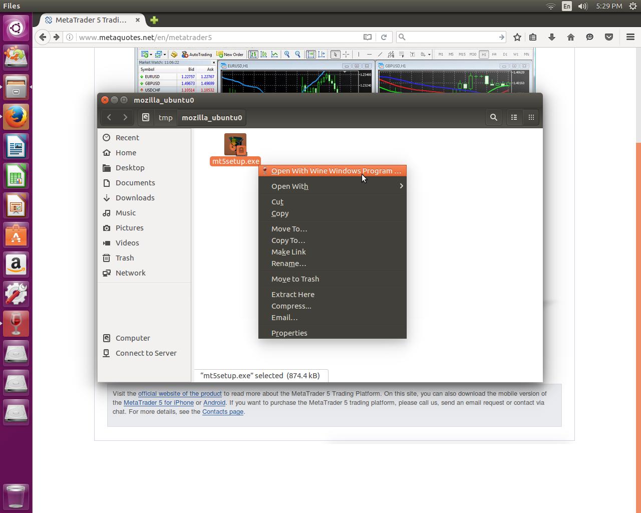 SOLVED] Installing MT5 on Ubuntu - MT5 - General - MQL5 programming