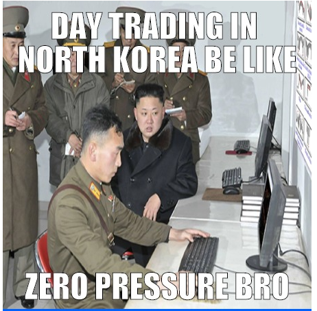 Traders Joking