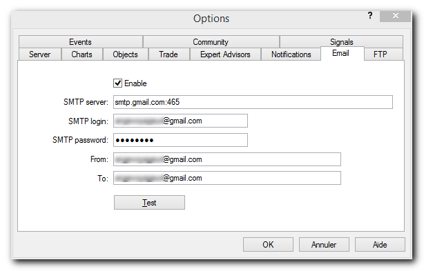 How do I send email alerts from MT4 to my email - Trading