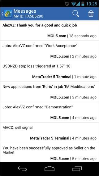 Обновленный MetaTrader 5 Android - теперь с Push-уведомлениями!