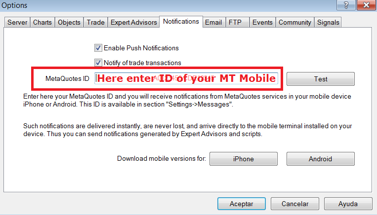 Alert system from MT4 or MT5 ?