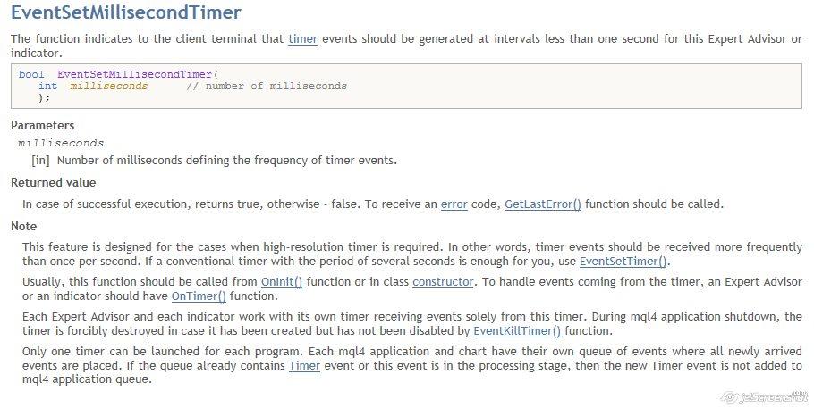 Cannot set milisecond timer? - Expert Advisor - MQL4 and