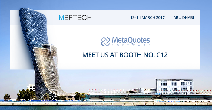 MetaQuotes Software to participate at MEFTECH 2017