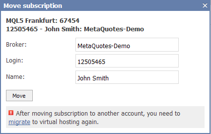 How to migrate a signal subscription from one VPS to a new