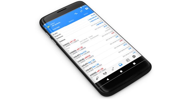 Новый MetaTrader 5 Android build 1576 с историей позиций