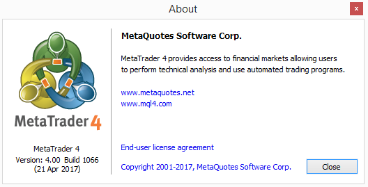 Technical Analysis In Forex Metatrader 4 Build 1066