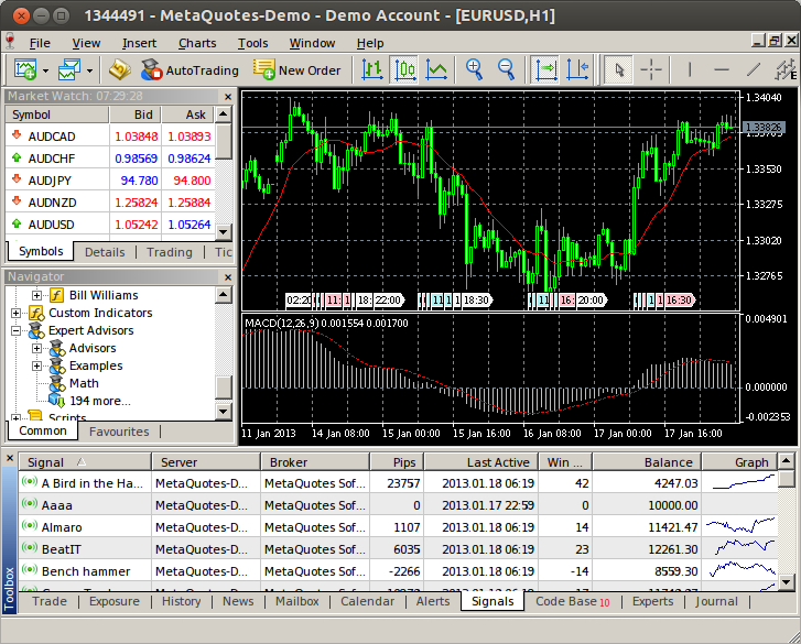 MetaTrader 5 on Linux