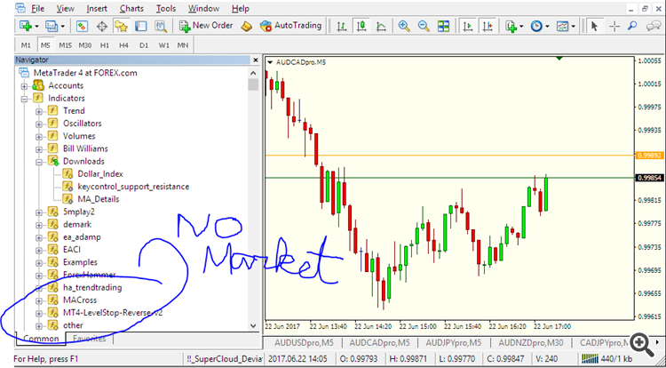 Market not in navigator even after restart