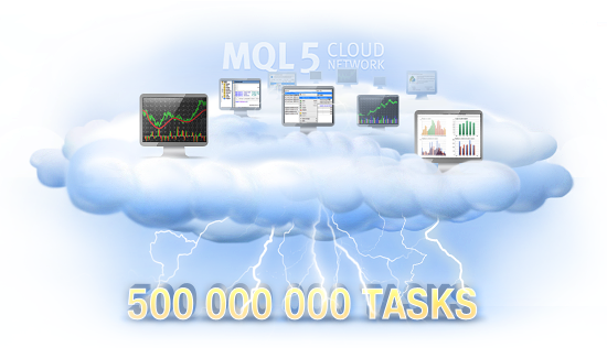 500.000.000 Tasks Executed with MQL5 Cloud Network