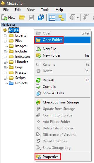 Cannot find Indicators Folder on MetaTrader 4 on MAC