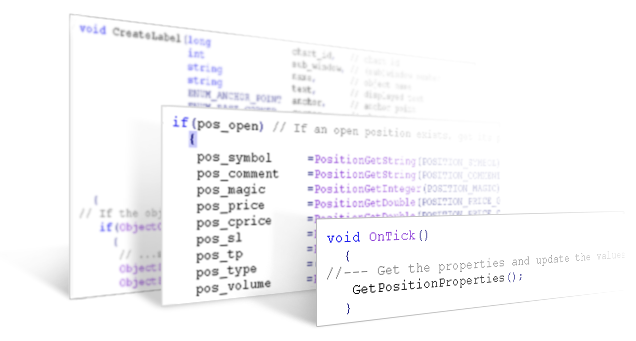 MQL5 Cookbook: Position Properties on the Custom Info Panel