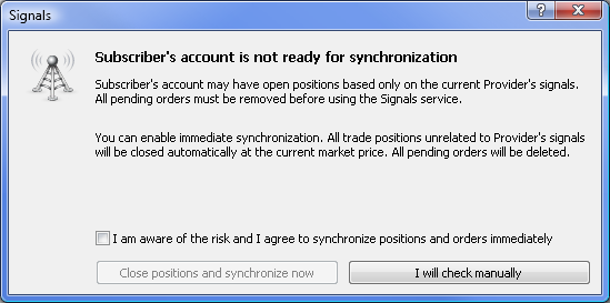 Subscriber's account is not ready for synchronization