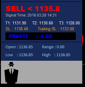 Help need to display buy and sell signal like seen below