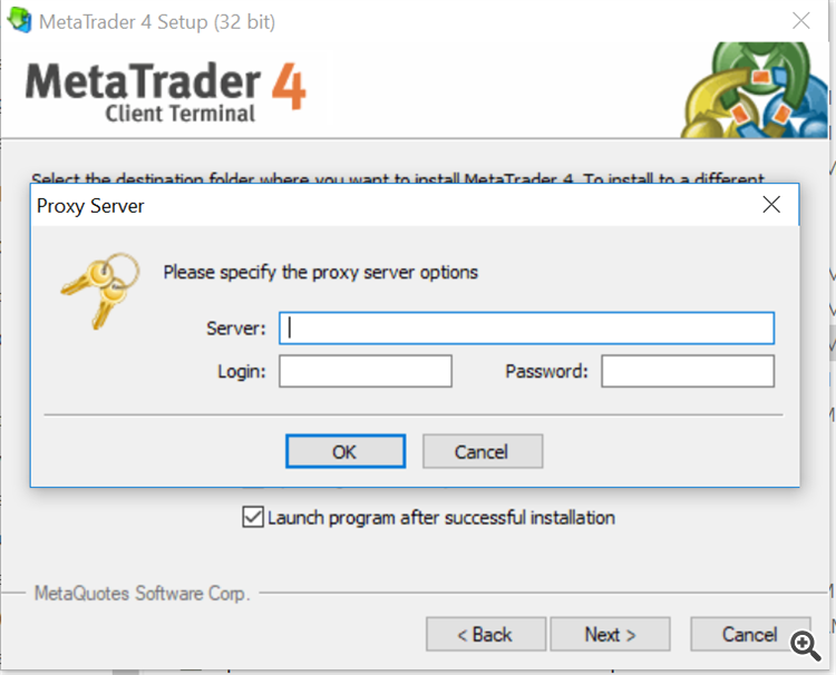 MT4 installation need Proxy setting - MetaTrader - MQL4 and